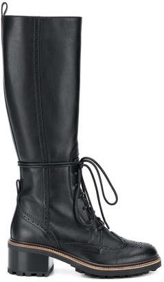 Chloé Franne lace-up high boots