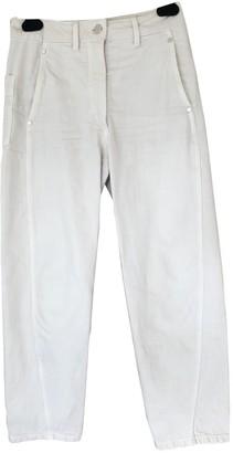Lemaire Ecru Cotton Jeans