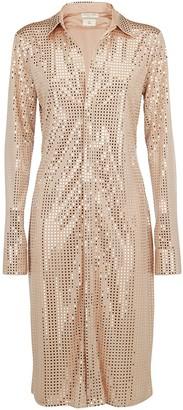 Bottega Veneta Embellished Mosaic Shirt Dress