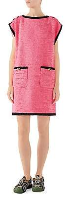 Gucci Women's Bouclé Tweed Cap Sleeve Boxy Dress