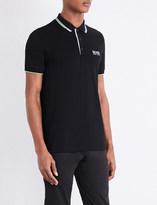 HUGO BOSS Contrast-trim jersey polo shirt