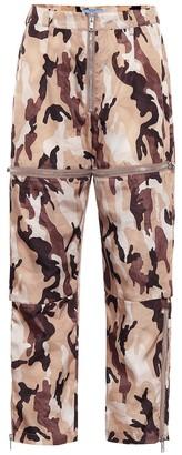 Prada High-rise straight camouflage pants