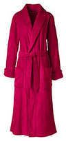 Classic Women's Petite Plush Fleece Robe-Deep Scarlet
