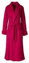 Lands' End Women's Petite Plush Fleece Robe-Deep Scarlet
