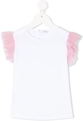 Il Gufo tulle sleeve T-shirt