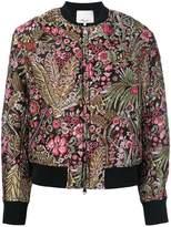 3.1 Phillip Lim floral cropped bomber jacket