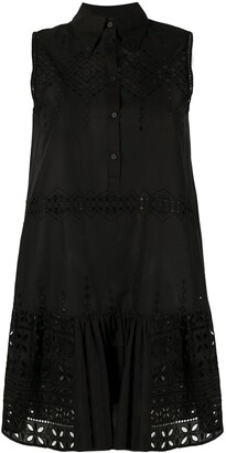 Ermanno Scervino Embroidered-Detailing Sleeveless Mini Dress