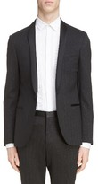 Lanvin Men's Metallic Stripe Shawl Collar Tuxedo Jacket