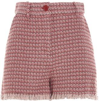 Pinko High-Rise Tweed Shorts