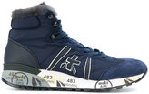 Premiata fur trim hi-top sneakers