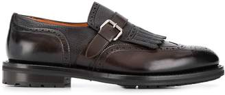 Santoni embossed monk shoes