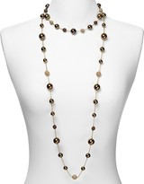 """Carolee Chocolate Pearl and Gold Fireball Long Illusion Necklace, 42"""""""