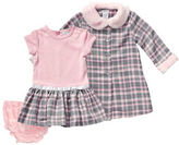 Sweet Heart Rose Sweetheart Rose Baby Girls Three-Piece Coat, Dress and Diaper Cover Set