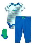 Little Me Infant Boy's Dinos Bodysuit, Pants & Socks Set