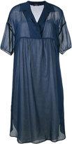 Odeeh lapel shift dress - women - Cotton - 34