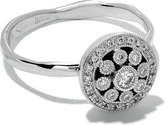 Wouters & Hendrix Gold 18kt white gold Diamond Rosetta ring