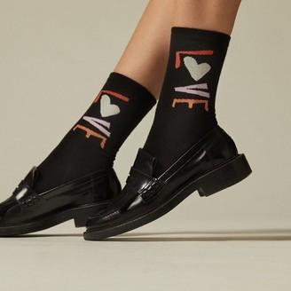 Love & Lore Love Crew Sock Black
