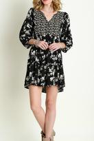 Umgee USA Black Floral Dress