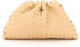 Bottega Veneta THE POUCH INTRECCIATO 15 OS Beige Leather