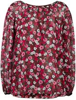 Saint Laurent anemone print gypsy blouse - women - Silk - 36