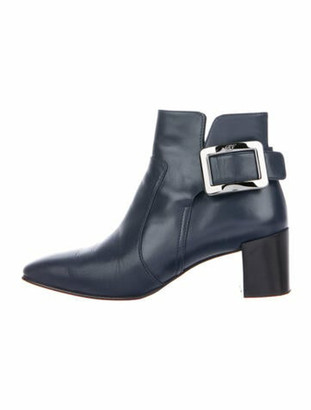 Roger Vivier Leather Boots Blue
