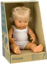 Miniland Baby Doll European Girl, 38 cm