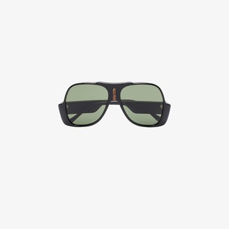 Gucci Black Oversized Aviator Sunglasses