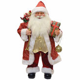 Asstd National Brand 24.5 Snazzy Santa Claus Figurine with Ornament & Gifts