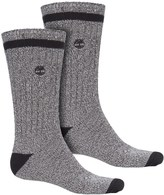 Timberland Rugged Cotton Blend Socks - 2-Pack, Crew (For Men)