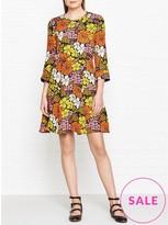 Whistles Anjelica Tangerine Dream Print Dress