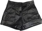 Jitrois Black Leather Shorts