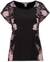 Anna Field Print Tshirt black/ rose