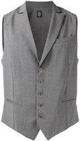 Eleventy buttoned waistcoat - men - Spandex/Elastane/Wool - L