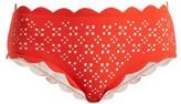 Marysia Swim Broadway Scallop-edged Bikini Briefs - Womens - Red White