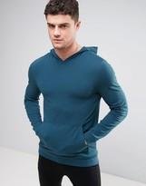 Asos Lightweight Muscle Hoodie In Green