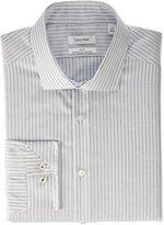 Calvin Klein Men's Non Iron Slim Fit Stripe Spread Collar Dress Shirt