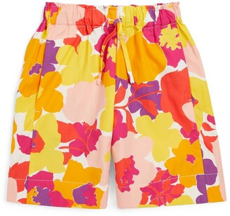 Il Gufo Floral Bermuda Shorts (3-12 Years)