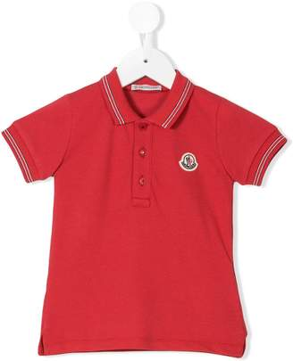 Moncler tri-colour trim polo shirt