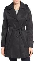 Via Spiga 'Scarpa' Hooded Single Breasted Trench Coat (Regular & Petite)