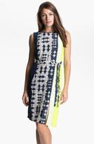 BCBGMAXAZRIA Sleeveless Print Silk Dress
