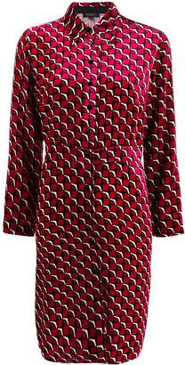 Antonelli geometric-print velvet shirt dress