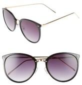BP Women's Leith 55Mm Round Sunglasses - Black/ Gold