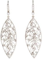 Penny Preville 18K Diamond Leaf Earrings