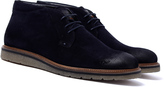 Boss Orange Tuned Deep Blue Suede Desert Boots
