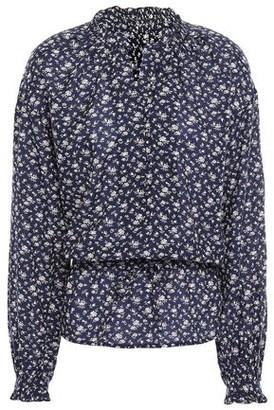 Joie Floral-print Cotton-blend Blouse