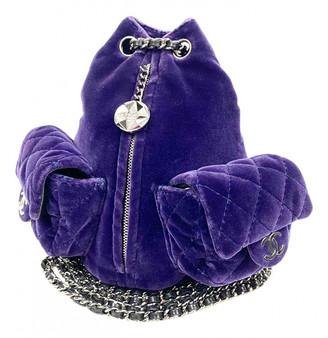 Chanel Purple Velvet Backpacks
