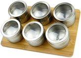 Magnetic Spice Rack with Bamboo Base