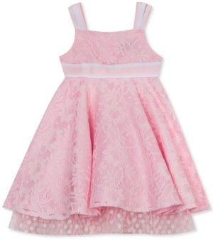 Rare Editions Toddler Girls Lace Ribbon-Strap Dress