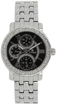 Titan Women's 9743SM02 Contemporary - Multifunction - Black Dial Silver Metal Strap Watch