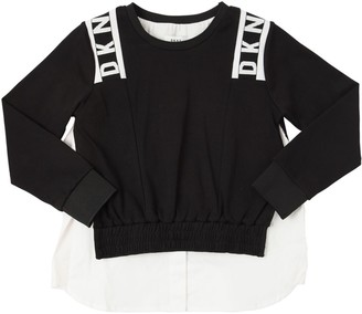 DKNY Cotton Interlock W/ Poplin Sweatshirt